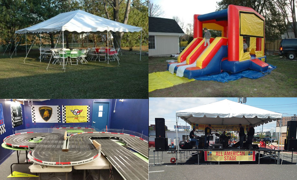 TNT Collage Image ! & Tent Rental Mount Laurel Tents Tables Chairs Pro Audio ...